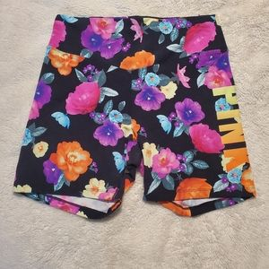 PINK ultimate floral shorts